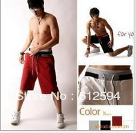 Hot sale!free shipping 4 colors 2013 new men shorts male color matching pants boys patchwork shorts fashion sports loose shorts