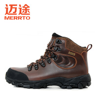 2013 winter paragraph high thermal outdoor shoes male first layer of cowhide male hiking shoes m18125