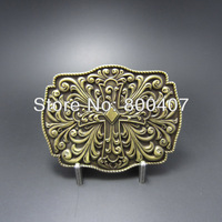 Wholesale Retail Classic Antique Bonze Plated Western Knot Iron Cross Belt Buckle BUCKLE-OC054AB Fast Delivery Free Shipping
