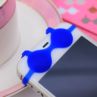 1 pcs/lot colorful cute phone brassiere universal earphone 3.5 mm ear cap dock dust plug dust cap for iPhone iPod cell phone
