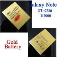 20 pcs 3080mAh Gold Business Battery for Samsung Galaxy Note GT N7000 i9220 Batterij Bateria AKKU Accumulator