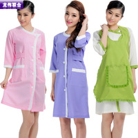 Clothes tooling clothes cosmetics staff uniforms summer short-sleeve dress