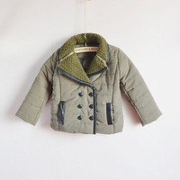 Children's clothing cotton-padded jacket 2013 big male child outerwear child thickening liner plus velvet wadded jacket