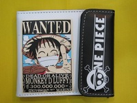 One Piece Luffy Wanted Wallet Luffy Sanji Pirate Anime Cosplay