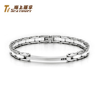 Rover ol fashion titanium space ceramic male bracelet