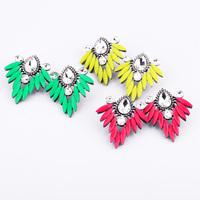 2014 fashion Shorouk  accessories alloy flower  sweet women's stud Statement  earrings accessories