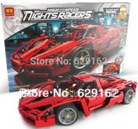 Without original box Bela 9186 1359pcs Enzo 1:10 modle car 3D construction plastic building blocks sets,bricks blocks kids toys