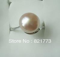 graceful 11.5mm big luster genuine fw pearl ring