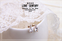 Stud earring earrings accessories vintage cross earrings  crystal fashion sparkling decoration