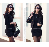 Winter plus size slim plus velvet thickening knitted long-sleeve dress basic skirt female