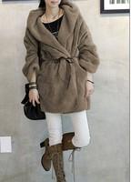 2013 autumn and winter women fur coat  loose all-match berber fleece overcoat fleece outerwear jacket