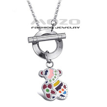 Free Shipping Wholesale 2013 HOT SALE New Fashion jewelry Little Bear  cute Style girls/lady chain Pendant Necklace TY669