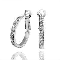 Factory Price Platinum Plating Austrian Crystal Element Women Earringss Finger Earrings E388