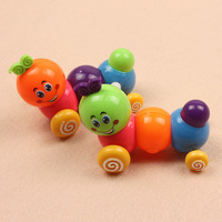 2pcs/slot Baby wind up baby toys educational toys children toy colorful caterpillar