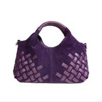2013 best Christmas gift scrub genuine leather women handbag shoulder /messenger bag free shipping
