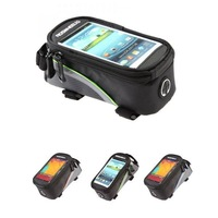 E0055 4.2 Inch Bicycle Touchscreen Mobile Phone Bags Cycling Bike Frame Front Tube Bag For Cell Phone Free Shipping