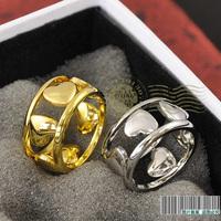 Love shaped 2013 cutout rose gold heart ring female titanium female