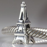 Free Shipping 1pc 100% 925 Sterling Silver Eiffel Tower Bead Charm European Bead Fit Biagi Bracelet 0685
