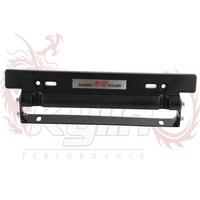 KYLIN STORE -- MUGEN Style Adjustable Carbon Fiber Look Bumber Plate , License plate frame