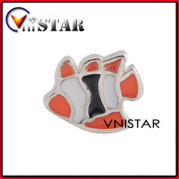 Free Shipping 60pcs/Lot! Vnistar Single Sided Fish Floating Charm Wholesale In Tropical Fish Shape, AC216