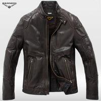 2013 sheepskin short slim design genuine leather male leather clothing motorcycle clothing leather jacket 957