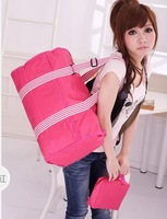 2014 fashion nylon tote bag travel bag shoulder bag messenger bag big shopping bag free shipping H2543