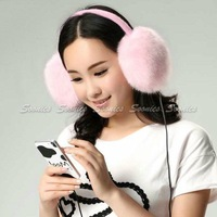 Hot Saling Warm Plush 3.5mm Stereo Music Headband Headphone Headset Earphone Winter Earmuff