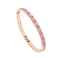 Free Shipping Rose Gold Plated Bangle/Cuff Make With AU Crystal,Crystal Bangle Wholesale Fashion Jewelry  BAJ 033