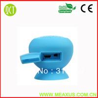 50 pcs a lot  2013 New Arrival Mini Mushroom Bluetooth Speaker Wireless Hands free Waterproof Silicone Suction Black