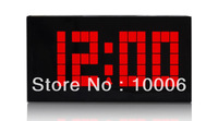 Hight quality modern digital led date display wall alarm clock wholesale free shipping #20022201