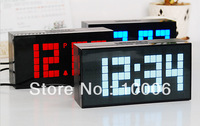 Wholesale Modern temperature date led light digital display wall clock wholesale free shipping #20022203