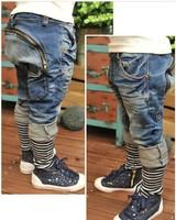 Retail 1pcs free shipping top quality boy novelty jeans fashion jeans casual denim trousers cotton denim pants fit 3-7yrs