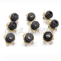 10 pcs MONO 6.35mm GUITAR BASS JACK SOCKET BLACK