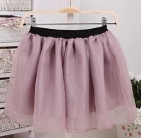 2013 Hot Fashion Organza High Waisted Women Short Skirt Solid Chiffon Tutu Mini skirt 6 Colors For Choose