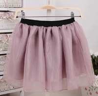 2013 Hot Fashion Organza High Waisted Women Short Skirt Solid Chiffon Tutu Mini skirt 6 Colors For Choose
