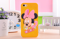 Free shipping New Brand Minnie Mouse Thick Silicone Back Cover Case for iPhone 5 5S 1pcs/lot