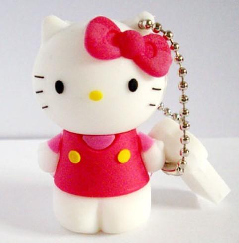 Cartoon USB Memory Stick 1GB 2GB 4GB 8GB Free DHL EMS Shipping,Hello Kitty USB(China (Mainland))