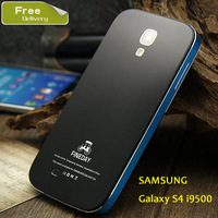 New arrival Fineday brand Aluminum metal cover case for Samsung galaxy S4 I9500 metal back cove for galaxy s4 free 5 gift
