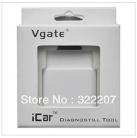 Free shipping  icar 327  with switch, Vgate 327 bluetooth ELM327 icar OBD II scanner,wireless obd2 327