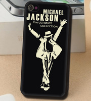 For iPhone 4 4S 5 5S Man women Jackson Luminous shine in dark Cover Cases Skins waterproof D_63