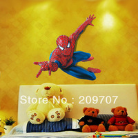 Free Shipping Hot Sale Wholesale New Colorful Spider Man Removable Vinyl Wall Decal Stickers Home Decor Kid Room WAS0176