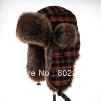 new 2014  Russia fur bomber hat for women and men with free shipping