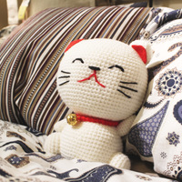 Free shipping Dolls doll cloth doll plush toy cat Large birthday gift kk female cat lucky cat