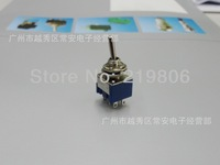 Free Shipping MTS-203 Latch Miniature Toggle Switch 125VAC 6A 6 Pins ON/OFF/ON 3 Positions