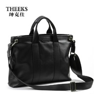 Fine man bag british style business casual messenger bag shoulder bag handbag leather bag briefcase bag gsq