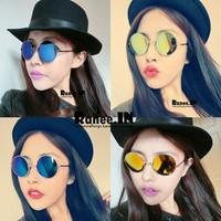 Estilo de moda de las gafas de sol de membrana Japaness muticolour para la mujer