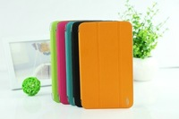 New arrival foldable tranaparent back case smart cover ultra thin leather case for ipad mini 2