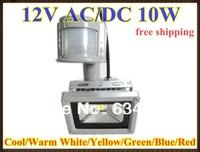 12V 10W PIR LED Flood light White Warm Floodlight Motion Sensor AC/DC 12V LW42