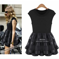 2013 spring and summer womens organza slim one-piece dress princess dresses fluid tank dress fashion short skirt