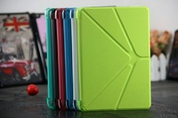 Super slim foldable leather case different foldable way smart cover for ipad mini 2